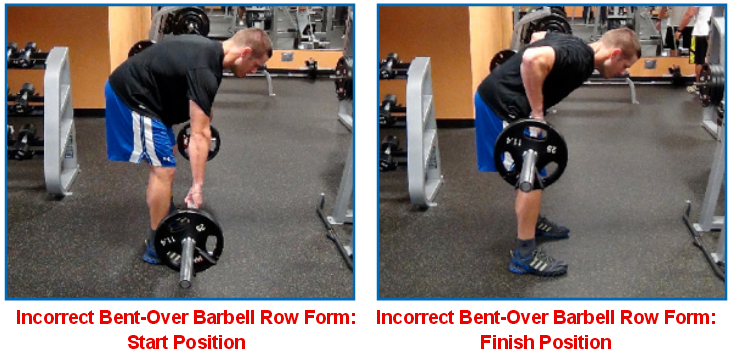 barbell row wrong
