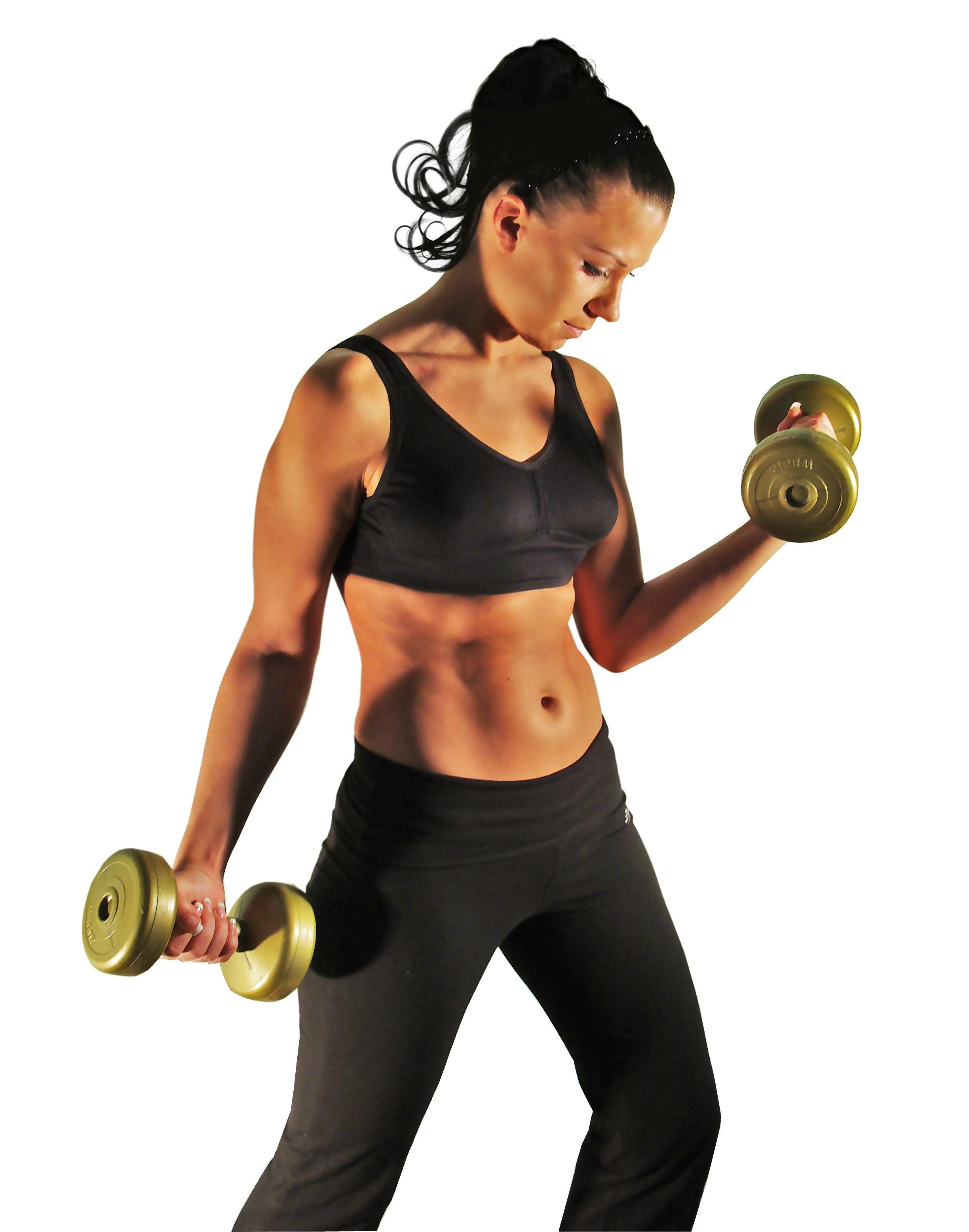 Las mujeres al levantar pesas ganan mucha masa muscular.
